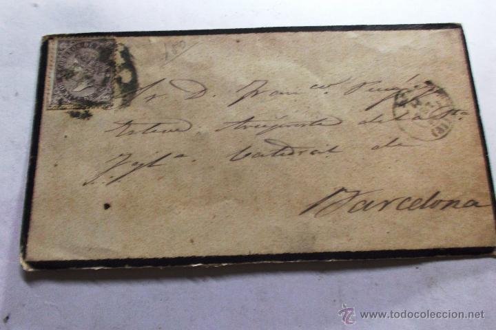 EDIFIL Nº 98 EN CARTA COMPLETA CIRCULADA DE LEON A BARCELONA 18 SEPTIEMBRE 1869 (Sellos - España - Isabel II de 1.850 a 1.869 - Cartas)