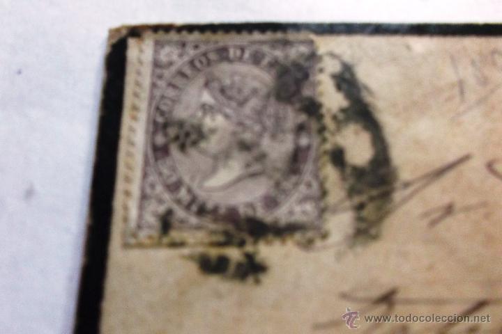 Sellos: EDIFIL Nº 98 EN CARTA COMPLETA CIRCULADA DE LEON A BARCELONA 18 SEPTIEMBRE 1869 - Foto 2 - 45596622