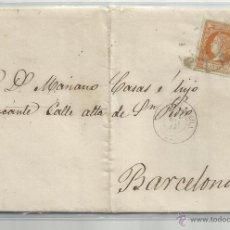 Timbres: CIRCULADA Y ESCRITA 1861 DE GUADALAJARA A BARCELONA . Lote 45597927