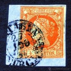 Francobolli: 1860. ISABEL II USADO EDIFIL Nº 52 FECHADOR CARTAGENA (MURCIA) TIPO I. Lote 45787098
