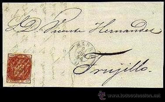 FRONTAL EDIFIL 24 MADRID JUN 1854 (I) (Sellos - España - Isabel II de 1.850 a 1.869 - Cartas)