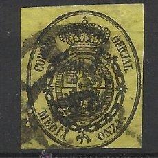 Sellos: ISABEL II RUEDA CARRETA 6 MALAGA 1855 EDIFIL 35. Lote 46951203