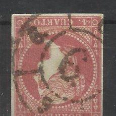 Sellos: 1855 ISABEL II EDIFIL 48 RUEDA CARRETA 6 MALAGA. Lote 47833501