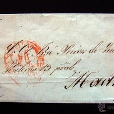 Sellos: CARTA CIRCULADA MADRID . SELLO DE ISABEL II 6 CUARTOS .1852 . VARIANTE SIN PUNTO DESPUES DE CORREOS. Lote 48528289