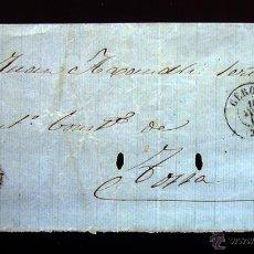 Sellos: ENVUELTA CIRCULADA CON SELLO DE ISABEL II DE 4 CUARTOS . 1858. Lote 48528768