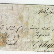 Sellos: CARTA CARRETA DIRIGIDA A CANDIDO DE LA RIVA EN ORTIGOSA DE CAMEROS RIOJA MANUSCRITA MANUSCRITO . Lote 48631840