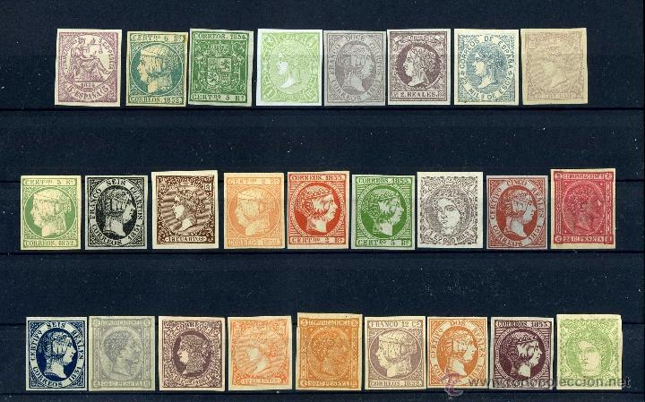 26 SELLOS CLASICOS ESPAÑOLES A IDENTIFICAR Y CATALOGAR SON DE 1800 TIEMPO DE ISABEL II - MIRAR - Nº7 (Sellos - España - Isabel II de 1.850 a 1.869 - Nuevos)