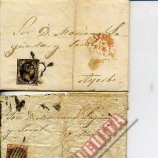Sellos: LOTE DE 10 CARTAS ENVIADAS ENTRE LOS AÑOS 1851 Y 1870. ZARAGOZA. AYERBE. MURILLO DE GÁLLEGO.. Lote 49274445