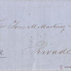 Sellos: ENVUELTA EDIFIL 98. CON PRECIOSO FECHADOR DE PADRÓN. CORUÑA. 1869.. Lote 49556308