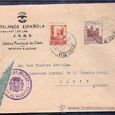Sellos: SOBRE CENSURA MILITAR DE JEREZ DE LA FRONTERA, CADIZ. Lote 49563626