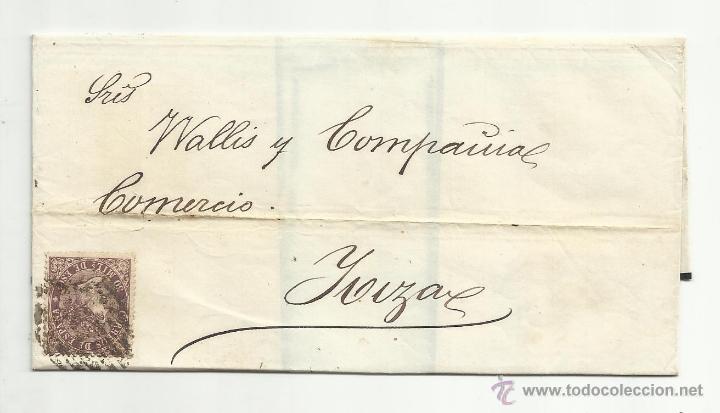 ENVUELTA EDIFIL 98 CIRCULADO 1869 DE BARCELONA DE MALLORCA A IBIZA (Sellos - España - Isabel II de 1.850 a 1.869 - Cartas)