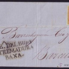 Sellos: ESPAÑA.(CAT.52/PE.1).1860.CARTA DE CABEZA DEL BUEY.4 CTOS.MAT.CASTUERA(BADAJOZ).MARCA PREFILATÉLICA. Lote 50367506