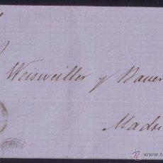 Sellos: ESPAÑA. (CAT.81). 1866. CUBIERTA DE VALENCIA A MADRID. 4 CTOS. MAT. * AMBULANTE/MEDITERRANEO *. RARA. Lote 50444543