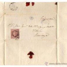 Sellos: SOBRE CON CARTA AÑO 1863. DE GUIPUZCOA A ESCORIAZA. VITORIA. Lote 50495762
