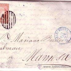 Sellos: F11-30-CARTA COMPLETA BARCELONA-MANRESA 1858- MARCAS LUJO E INTERESANTE TEXTO COMERCIAL. Lote 50763441
