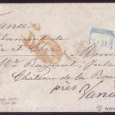 Sellos: ESPAÑA. (CAT. 82/GRAUS 108-II).1866. SOBRE DE BARCELONA A FRANCIA. 12 CTOS. FALSO POSTAL TIPO II.RRR. Lote 50808372