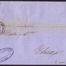 Sellos: ESPAÑA. (CAT. 58A). 1862. CUBIERTA DE PALMA A IBIZA. 4 CTOS. CORREO INSULAR ENTRE ISLAS. MUY RARA.. Lote 51137563