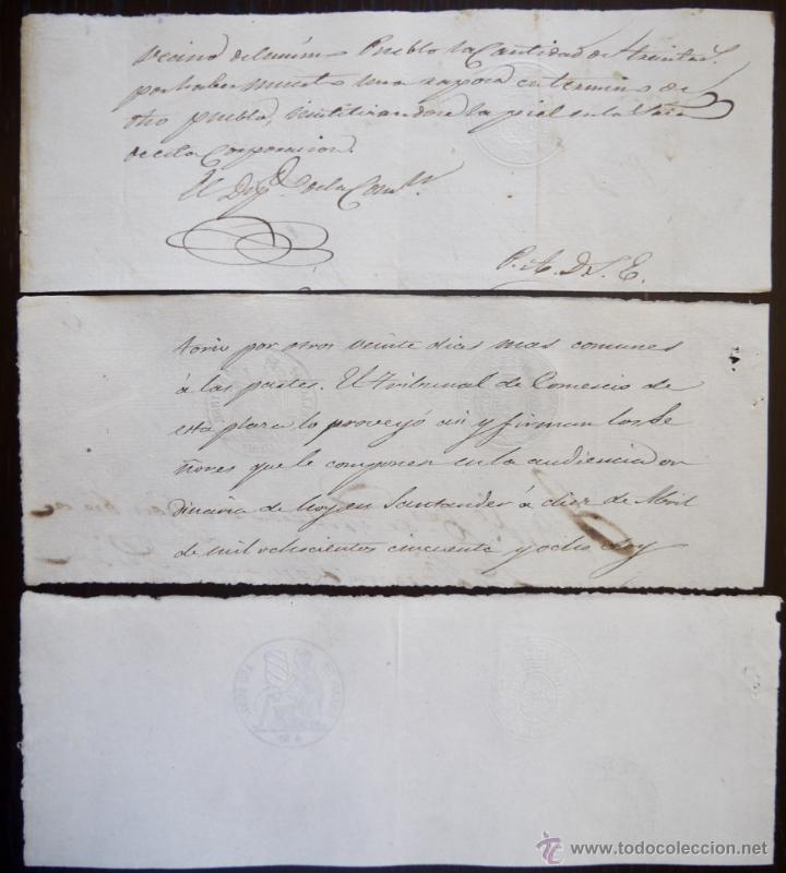 Sellos: TRES SELLOS CLASICOS FISCALES 1855, 1857 Y 1858. ANTIGUOS SELLOS FISCALES TIMBROLOGIA FILATELIA FISC - Foto 2 - 51387922