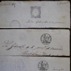 Sellos: TRES SELLOS CLASICOS FISCALES 1860, 1862 Y 1865. ANTIGUOS SELLOS FISCALES TIMBROLOGIA FILATELIA FISC. Lote 51388050
