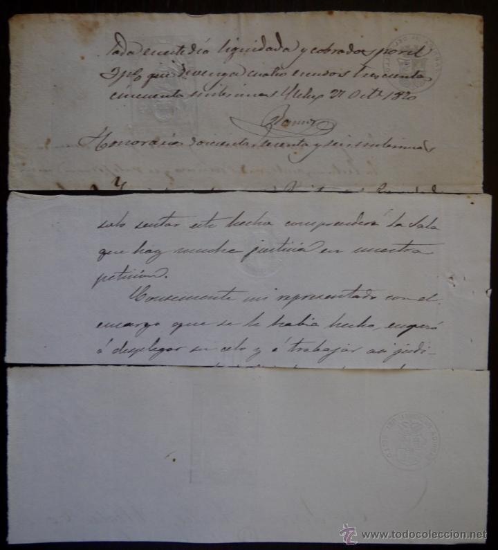 Sellos: SELLOS CLASICOS FISCALES 1866, 1870 Y 1870. ANTIGUOS SELLOS FISCALES TIMBROLOGIA FILATELIA FISC - Foto 2 - 51388211