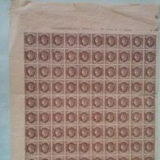 Stamps - EDIFIL 58 TIPO I , ISABEL II 1862 100 SELLOS EN HOJA, CON NUMEROSAS VARIEDADES - 51579830