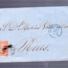 Sellos: 1857. CARTA DE BARCELONA A REUS.. Lote 51725780