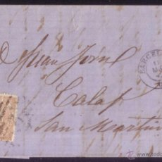 Sellos: ESPAÑA.BARCELONA.REVOLUCIÓN DE 1868(LA GLORIOSA).1867(17 AGO).PRIMERAS REVUELTAS. PIEZA EXCEPCIONAL.. Lote 51933409