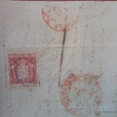 Sellos: EDIFIL Nº 24 EN CARTA COMPLETA DE 12 ABRIL 1854,FECHADOR TIPO BAEZA SALIDA Y LLEGADA TUDELA NAVARRA. Lote 52531883