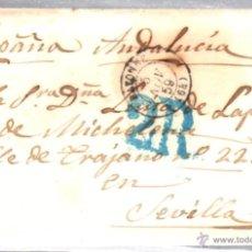 Sellos: BAYONA. BAYONNE. 1859. CARTA DE BAYONA A SEVILLA.. Lote 52814522