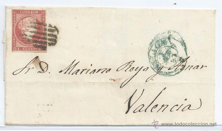R6/ CARTA ESPAÑA 48, AÑO 1855, SEGUN FOTO (Sellos - España - Isabel II de 1.850 a 1.869 - Cartas)
