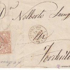 Sellos: CARTA CON SELLO 50 MIL. DE ISABEL II DE LEDESMA -SALAMANCA- A TORDESILLAS 1867. Lote 53438495