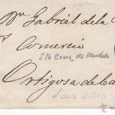 Sellos: ENVUELTA CON SELLO DE ISABEL II 4 CUARTOS DE SANTA CRUZ DE MUDELA - CIUDAD REAL. Lote 53439884