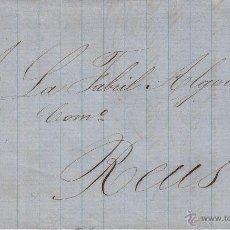 Sellos: CARTA CON SELLO 4 CUARTOS ISABEL II DE GRANADA A REUS 1858. Lote 53440343