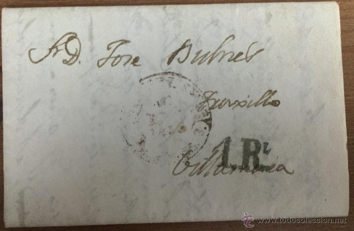 Sellos: 18 CARTAS CON SELLOS DE ISABEL II - CÁCERES - TRUJILLO - VILLAMESÍAS - Foto 7 - 53568825