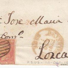 Sellos: ENVUELTA CON SELLO NUM. 12 DE REUS A LORCA----1852-----. Lote 53958213