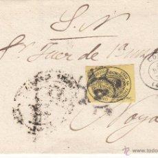 Sellos: FRONTAL SELLO NUM 35-CORREO OFICIAL MEDIA ONZA-LA CORUÑA Y RUEDA DE CARRETA---1861---. Lote 53991948