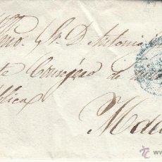 Sellos: CARTA ENTERA SELLO NUM. 40DE INSPEC.PROV.INSPECCION PRIMARIA DE LEÓN A MADRID --1856---. Lote 54413971