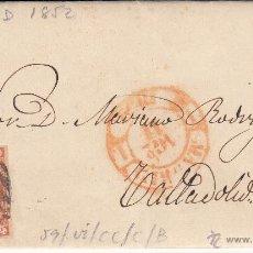 Sellos: CARTA ENTERA CON SELLO NUM.12 DE ADM.CODIGO CIVIL DE MADRID A VALLADOLID -1852-. Lote 54414069