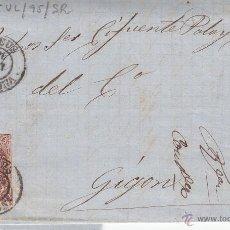 Sellos: CARTA CON SELLO NUM.58 CON FECHADOR DE REUS DESTINO GIJÓN ---1867----. Lote 55011059