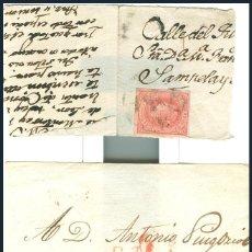 Sellos: PARTE DE CARTA......CON SELLO 4 CTS ISABEL II 1864......REGALO MATASELLO R ...CATALUÑA. Lote 55016507