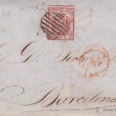 Sellos: CARTA COMPLETA CON SELLO NUM. 33 DE GRANADA A BARCELONA ---1855. Lote 55051800