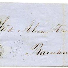 Sellos: CARTA DE ROSAS A BARCELONA, 1862, 4 CUARTOS DE 1860. Lote 55143676