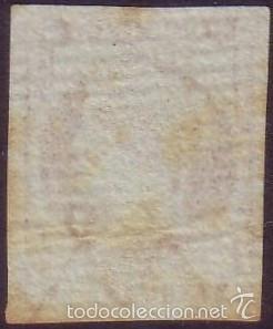 ESPAÑA. (CAT. 40ID). 4 CTOS. VARIEDAD * FILIGRANA DESPLAZADA *. RARO. (Sellos - España - Isabel II de 1.850 a 1.869 - Usados)