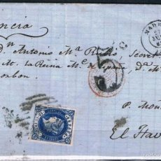 Sellos: 1863.- MADRID A FRANCIA. Lote 55687640