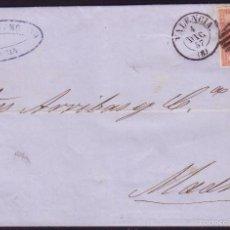 Sellos: ESPAÑA. (CAT. 48). 1857. CUBIERTA DE VALENCIA A MADRID. MAT. MIXTO. MAGNÍFICA Y RARA.. Lote 55819807