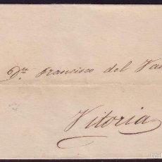 Sellos: ESPAÑA. (CAT. 52). 1862. CUBIERTA DE ARAYA A VITORIA. 4 CTOS. MAT.R.C. CIRCULADA PRIVADAMENTE. RR.. Lote 55820529