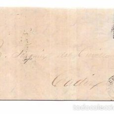 Sellos: CARTA CIRCULADA 1867. BARCELONA - CADIZ.. Lote 55920011