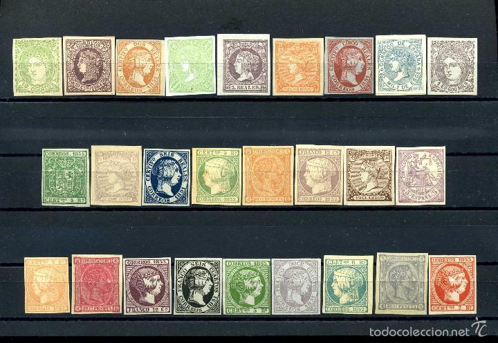 26 SELLOS CLASICOS ESPAÑOLES A IDENTIFICAR Y CATALOGAR SON DE 1800 TIEMPO DE ISABEL II - MIRAR -Nº15 (Sellos - España - Isabel II de 1.850 a 1.869 - Nuevos)