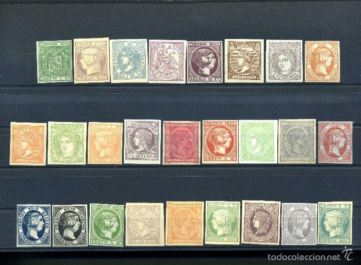 26 SELLOS CLASICOS ESPAÑOLES A IDENTIFICAR Y CATALOGAR SON DE 1800 TIEMPO DE ISABEL II - MIRAR -Nº16 (Sellos - España - Isabel II de 1.850 a 1.869 - Nuevos)