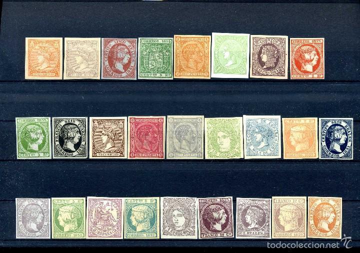 26 SELLOS CLASICOS ESPAÑOLES A IDENTIFICAR Y CATALOGAR SON DE 1800 TIEMPO DE ISABEL II - MIRAR -Nº20 (Sellos - España - Isabel II de 1.850 a 1.869 - Nuevos)